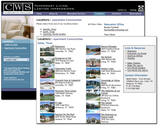 CWS Properties Database <small>Application</small>