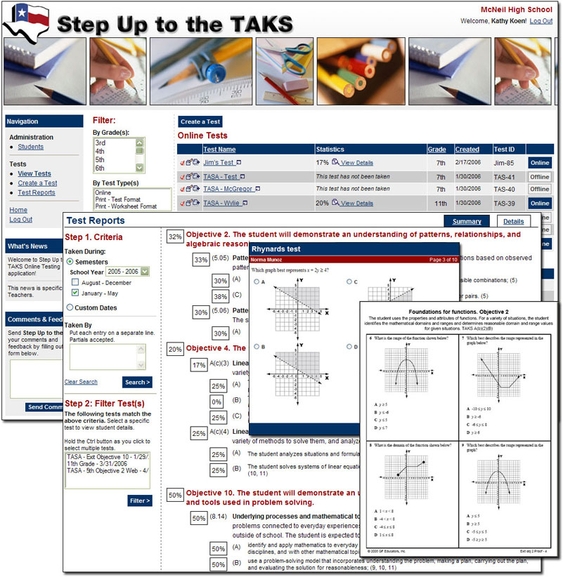 Step Up to the TAKS <small>Website and Application</small>