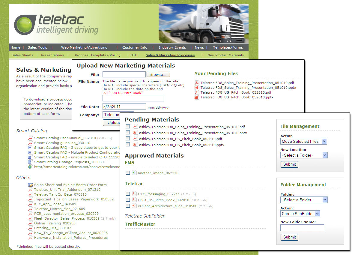Teletrac Intranet File Manager <small>Application</small>