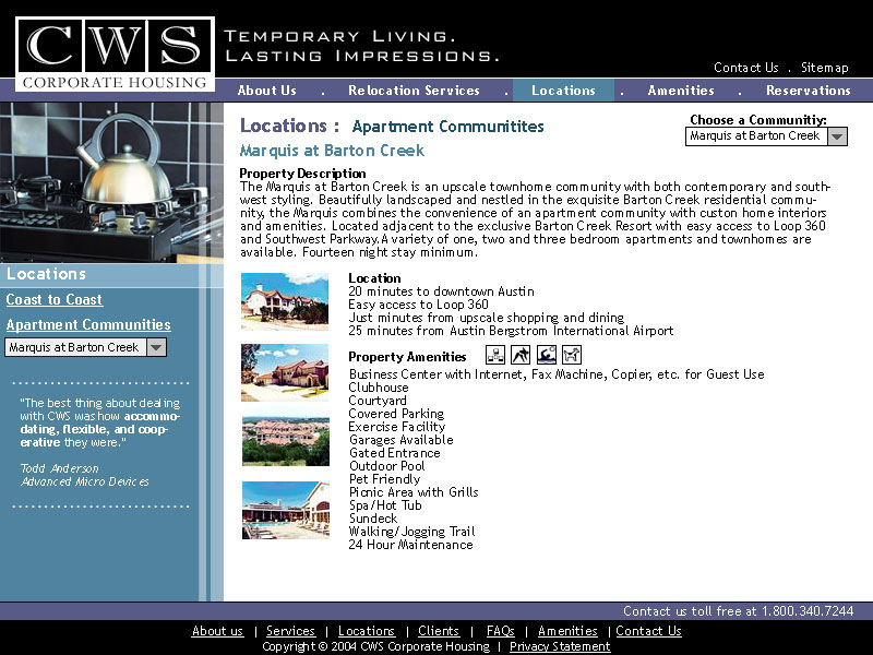 CWS Website <small>Design</small>