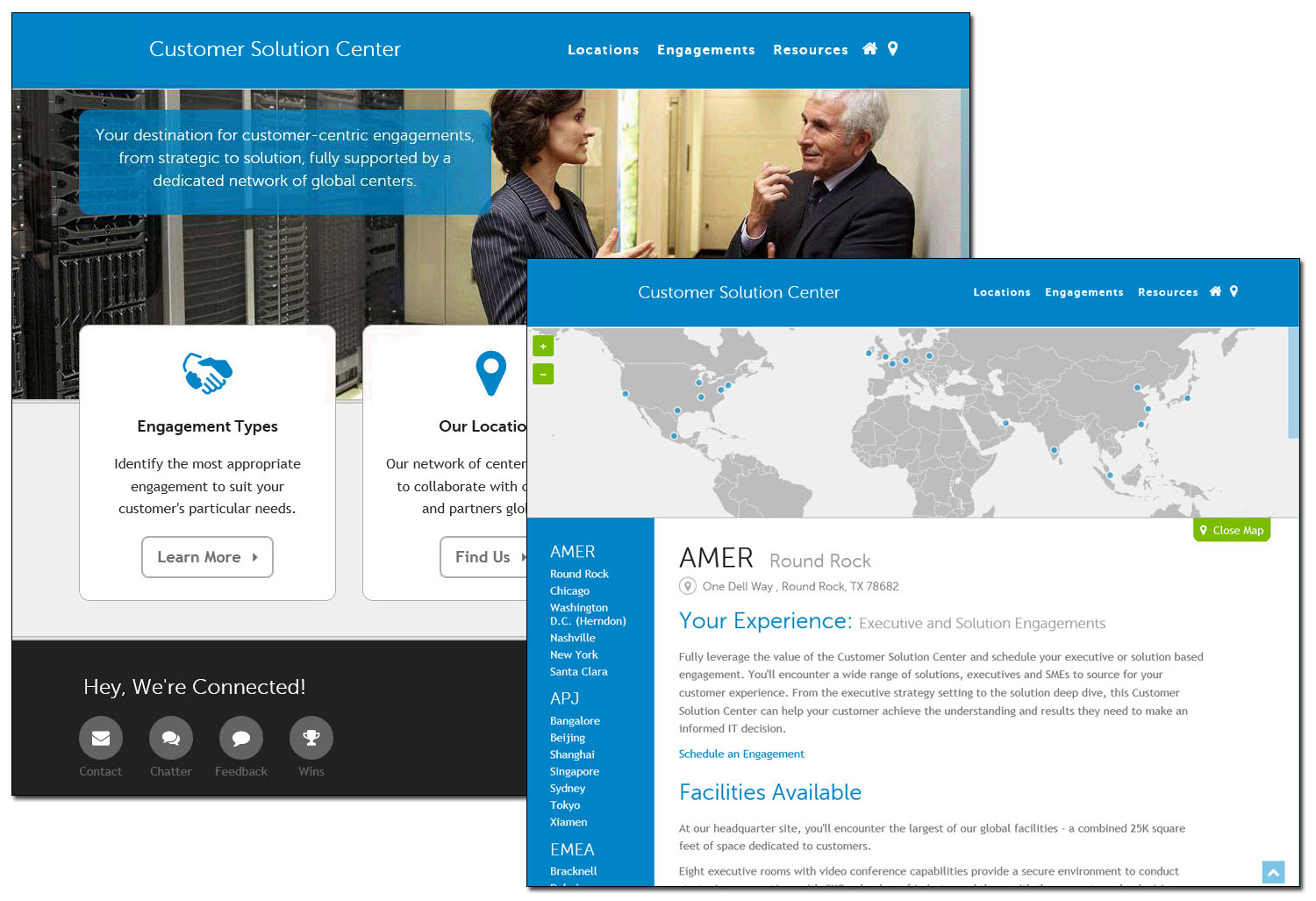 Customer Solution Center <small>Website with management apps</small>