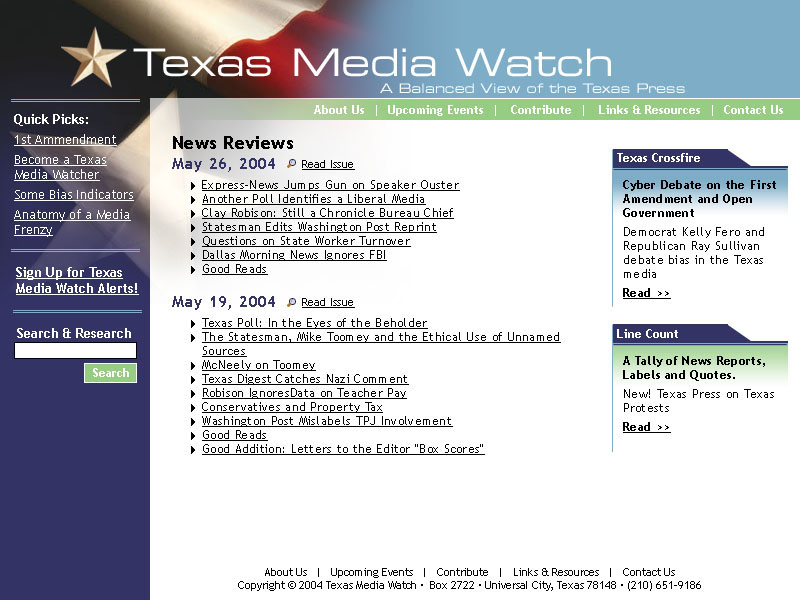 Texas Media Watch <small>Website</small>